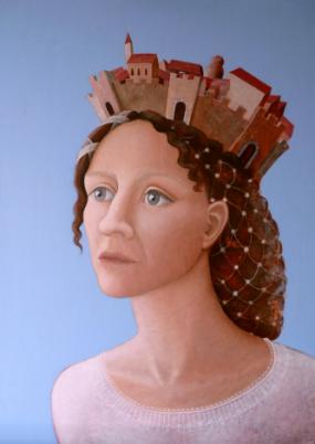 'Drager', eitempera op paneel, 70x50 cm
