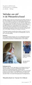 3. PULCHRI-blad november, Verhalen van stof