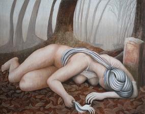 'De aarde en ik', eitempera op paneel, 16x21 cm