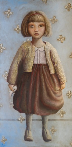 'Felicia I', oil on linen, 200x100 cm
