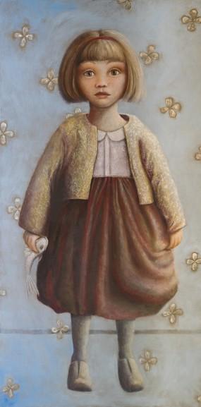'Felicia II', oil on linen, 200x100 cm