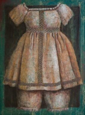 'Kleedje', oil on linen, 80x60 cm