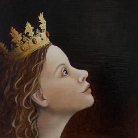 'Koningskind', olieverf en eitempera op paneel, 25x25 cm