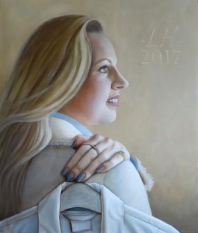 'Afscheid', Lisa, olieverf op paneel, 35x29 cm