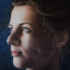 'Lotte', olieverf en eitempera op paneel, 70x70 cm
