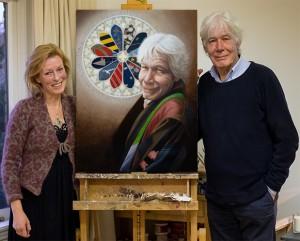 Paul van Vliet in z'n jas-van-stropdassen, olie op linnen, 80x60 cm
