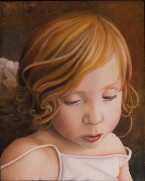 'Sarah-engel', olieverf en eitempera op paneel, 27x22 cm