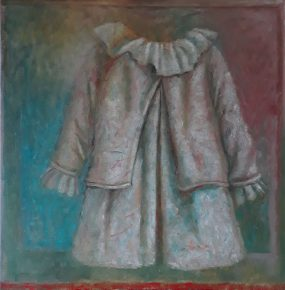 'Kleedje voor een Felicia, 2', oil on linen, 100 x 100 cm