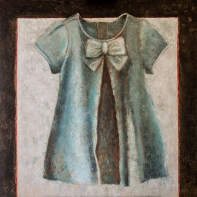 'Kleedje voor een Felicia 3', oil on linen, 100 x 100 cm
