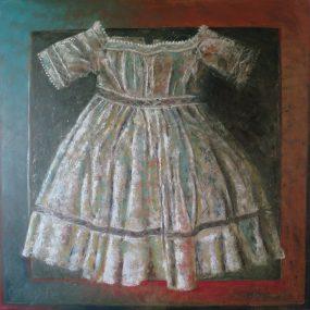 'Kleedje voor een Felicia, 4', oil on linen, 100 x 100 cm