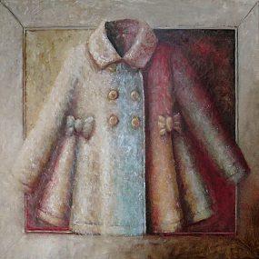 'Kleedje voor een Felicia, 5', oil on linen, 100 x 100 cm