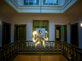 Felicia 1 in het Eschermuseum op de galerij