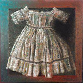 'Kleedje voor een Felicia 4', oil on linen, 100x100 cm