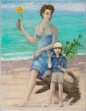 Met Aat Verhoog: 'La Fugue', oil on linen, 100x80 cm