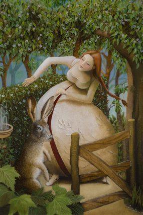 Dans van de maagd 2/Virgin dance 2, oil/wood, 30x20 cm
